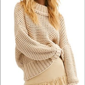 NWT Free People Cotton Blended Sweater